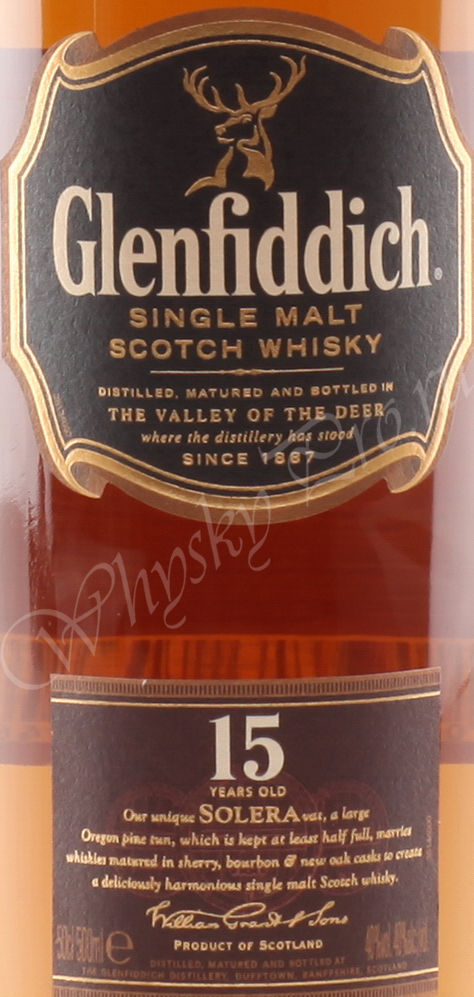 Glenfiddich 15 years 0.5l