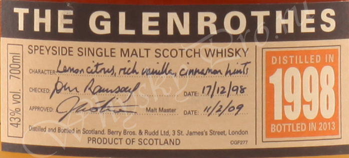 Glenrothes 1998 year