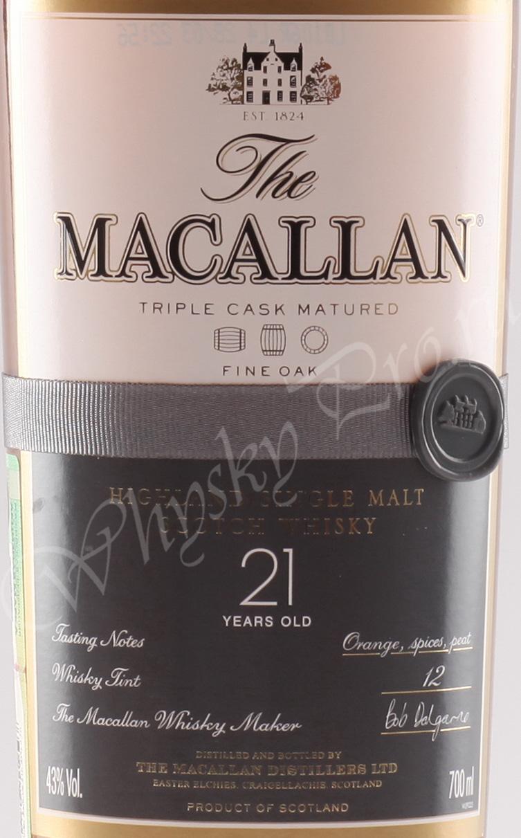 Macallan 21 years Fine Oak