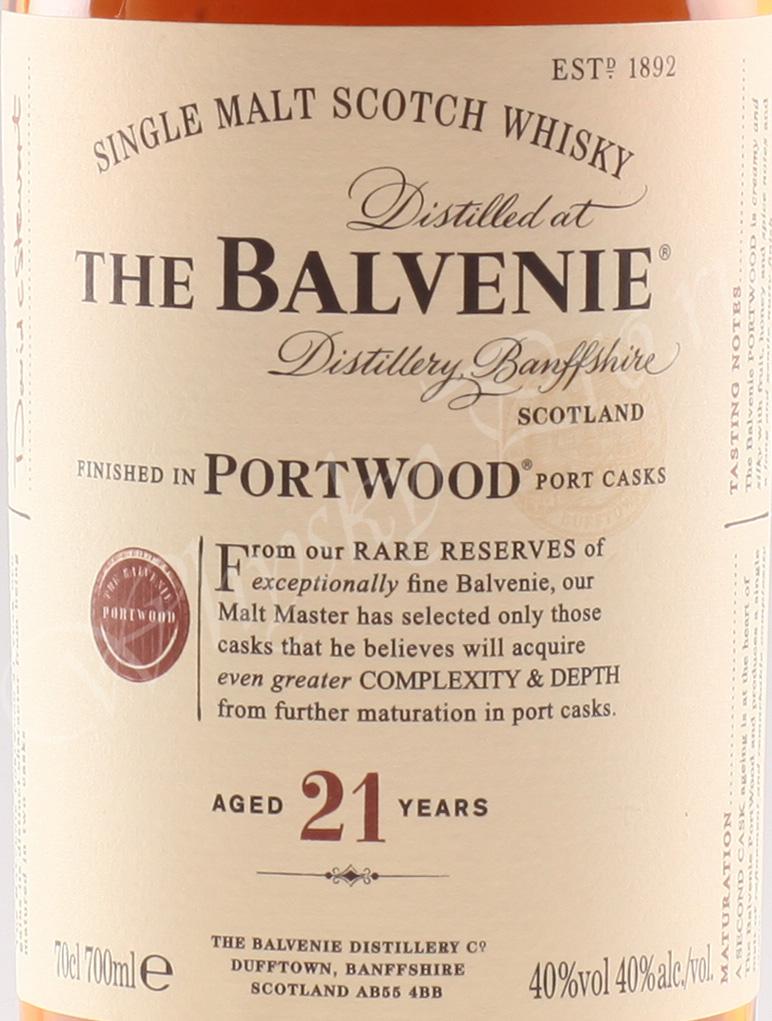 Balvenie 21 years