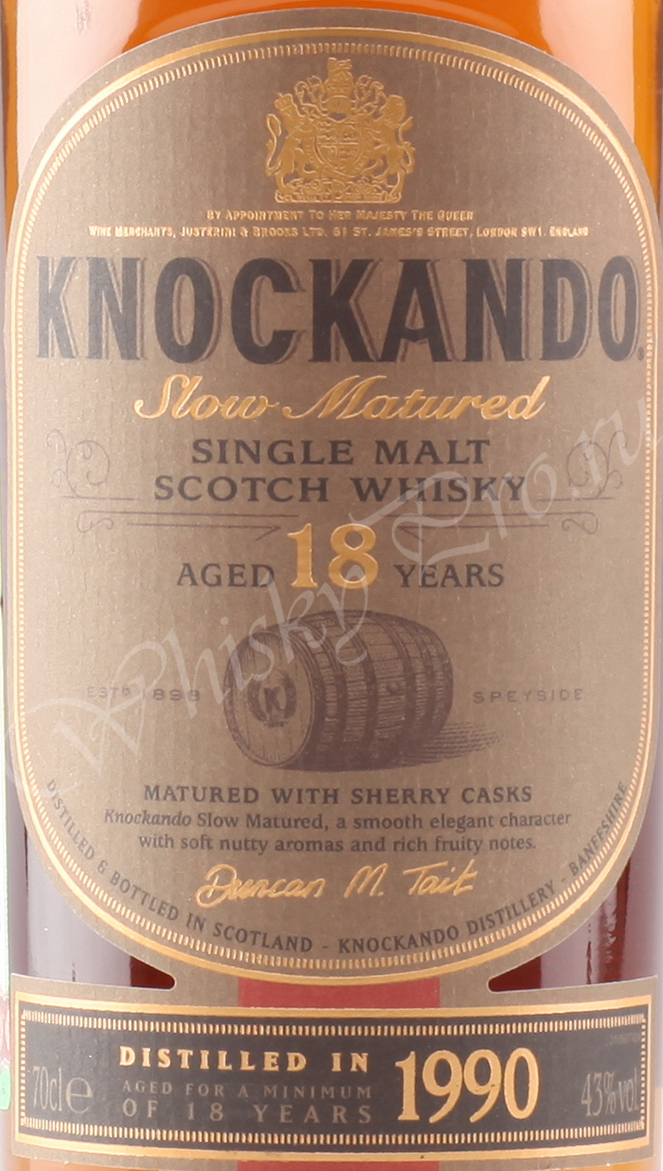 Knockando 18 years 1990