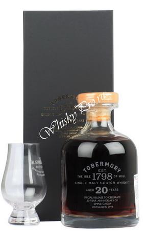 Tobermory Aged 20 Years 0,7l Виски Тобермори Эйджид 20 Еарс 0,7л в п/у