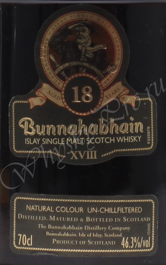 виски Буннахавэн 18 лет Шотландский односолодовый виски Bunnahabhain 18 years