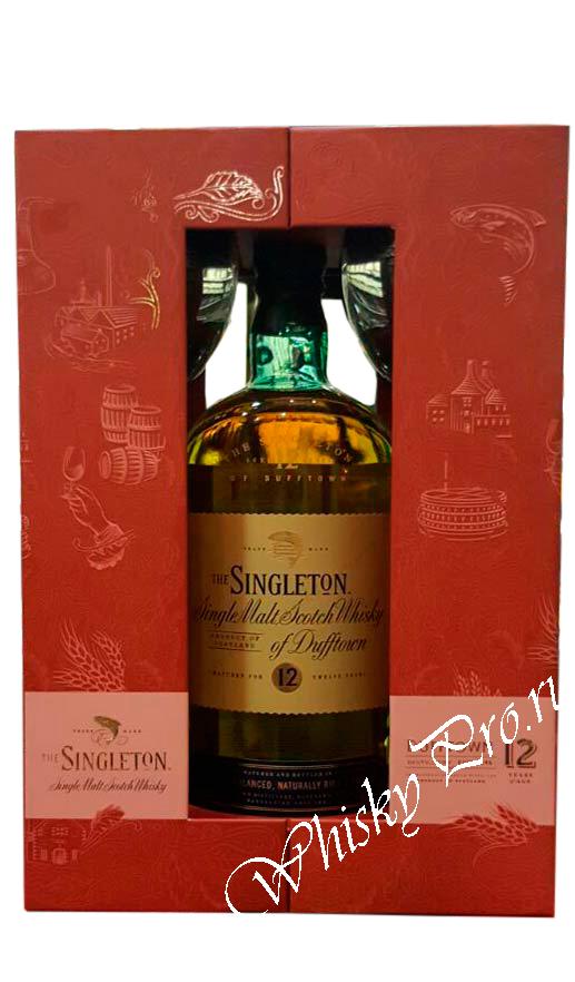Singleton 12 years виски Синглтон 12 лет в п/у + 2 стакана