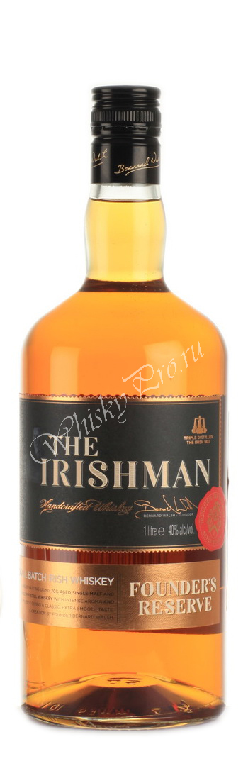The Irishman Founders Reserve 7 years 1l виски Айришмен Фаундерс Резерв 7 лет 1л