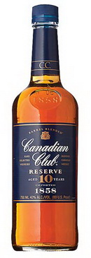 Виски Канадиан Клаб Резерв 10 лет Канадский виски Canadian Club Reserve 10 years