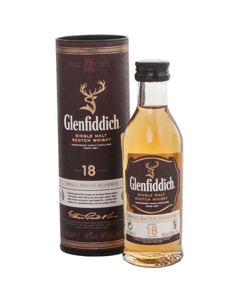 Glenfiddich 18 years виски Гленфиддик 18 лет 0.05 л