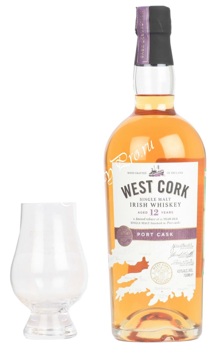 West Cork 12 years Port Cask Виски Вест Корк 12 лет Порт Каск