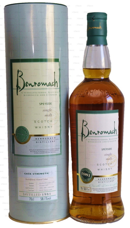 виски Бенромах 1981 Шотландский виски Benromach 1981