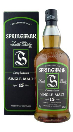 Шотландский виски Спрингбэнк Сингл Молт 15 лет виски Springbank Single Malt 15 years