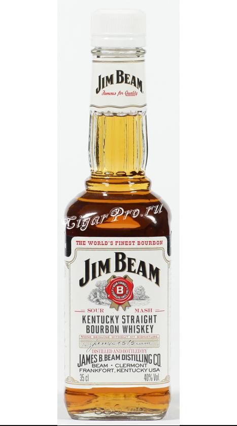 Whisky Jim Beam 0.35L, купить виски Джим Бим 0.35 литров
