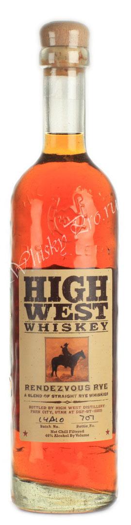 Виски Хай Вест Рандеву Рай Американский виски бурбон High West