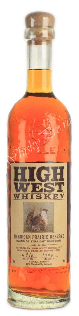 Виски Хай Вест Американ Прери Резерв Американский виски бурбон High West