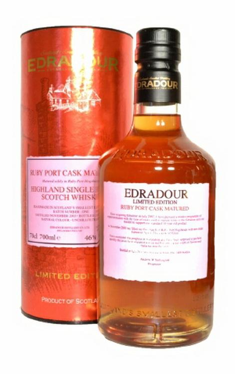 Виски Эдрадур 2003 года Шотландский виски Edradour Ruby Port Cask Matured 2003