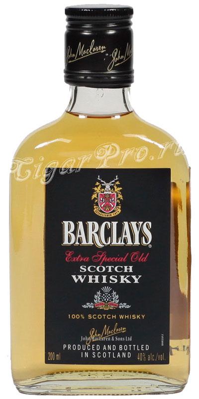 виски Barclays 0,2  виски Барклайс 0,2