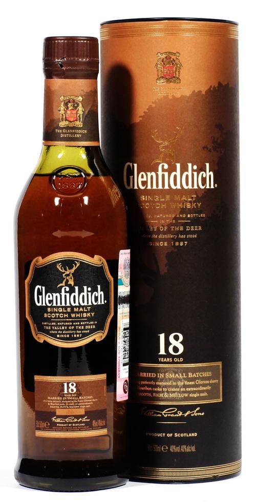 Виски виски Гленфиддик 18 лет 0.5 л Шотландский виски Glenfiddich 18 years old