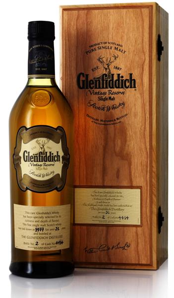 Гленфиддик Винтаж Резерв 1977 года Шотландский виски Vintage Reserve 1977