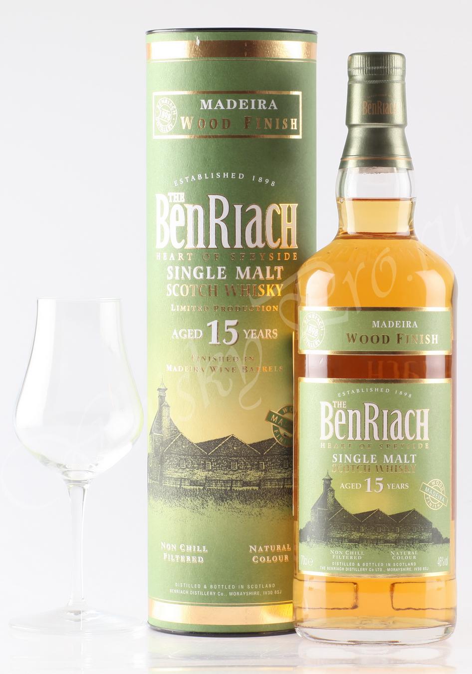 виски односолодовый Бенриах Мадера 15 лет Шотландский виски Benriach 15 years