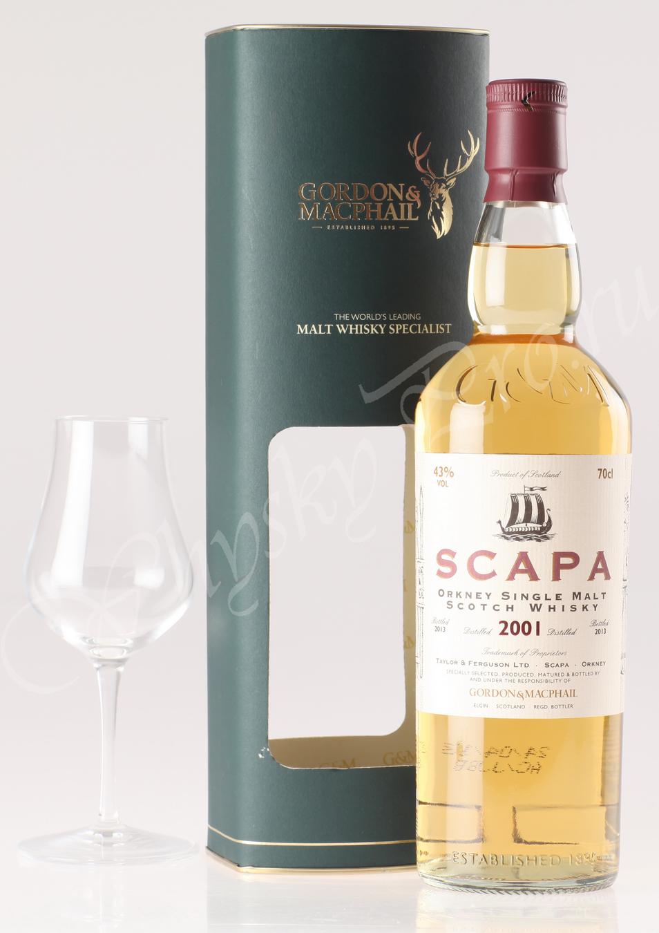 Виски Шотландский виски Скапа 2001 года виски Scapa 2001 year Gordon & Macphail
