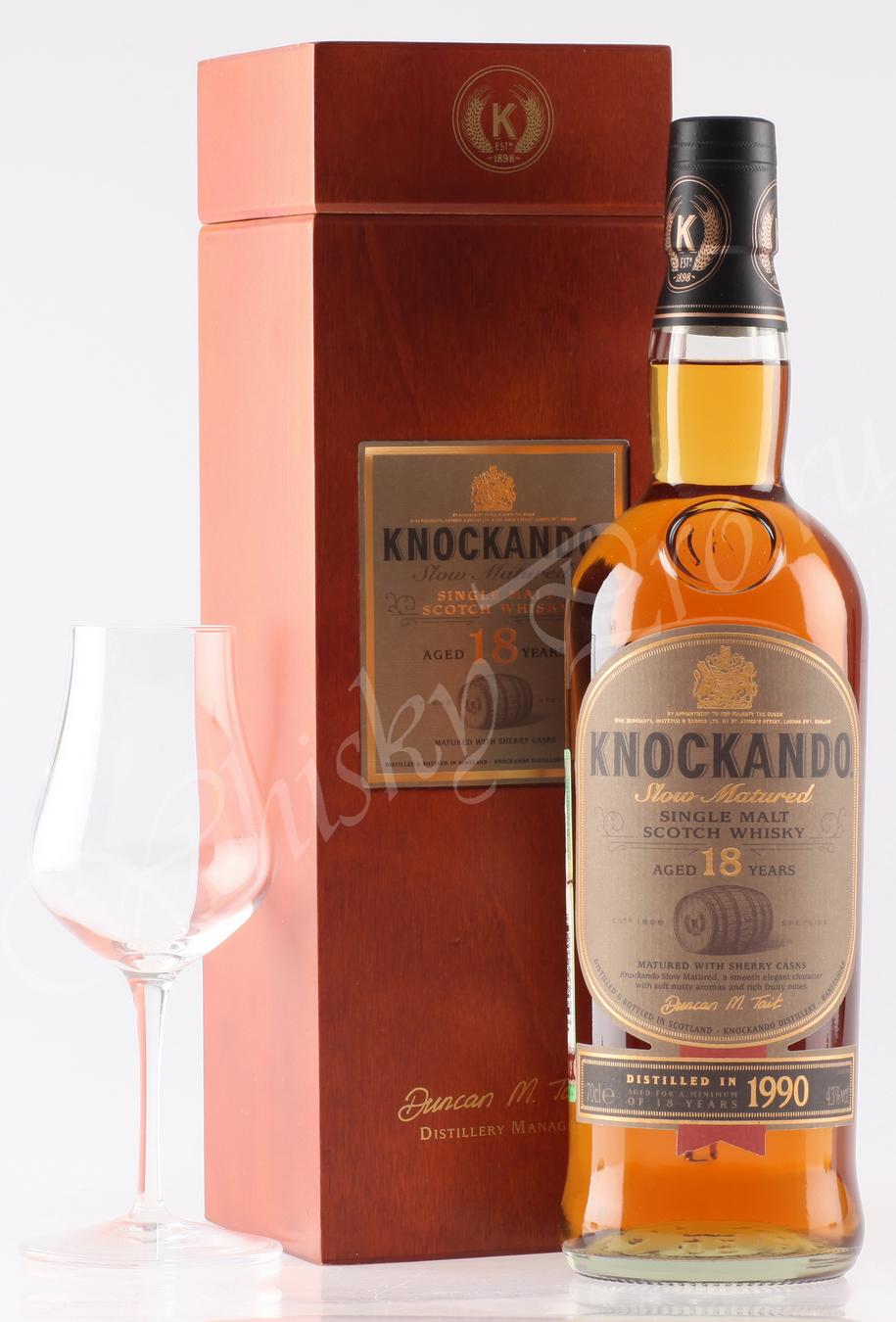 Виски Шотландский виски Нокэндо 18 год виски Knockando 1990