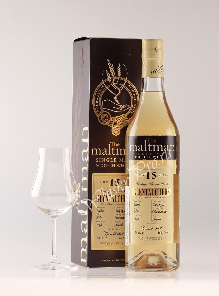 Виски Молтман Гленточерс 15 лет Шотландский виски Maltman Glentauchers 15 years