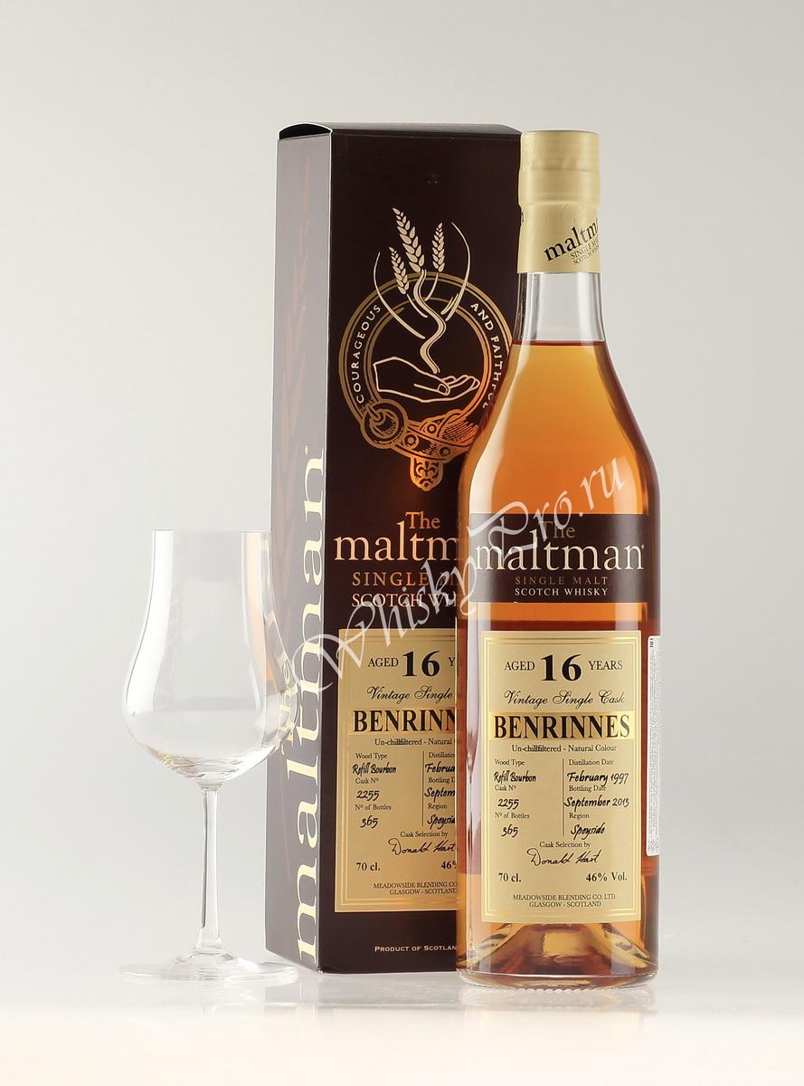 Виски Шотландский Maltman Benrinnes 16 years виски Молтман Бенринес 16 лет