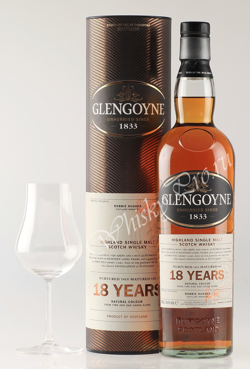 Виски Гленгойн 18 лет Шотландский виски Glengoyne 18 years old