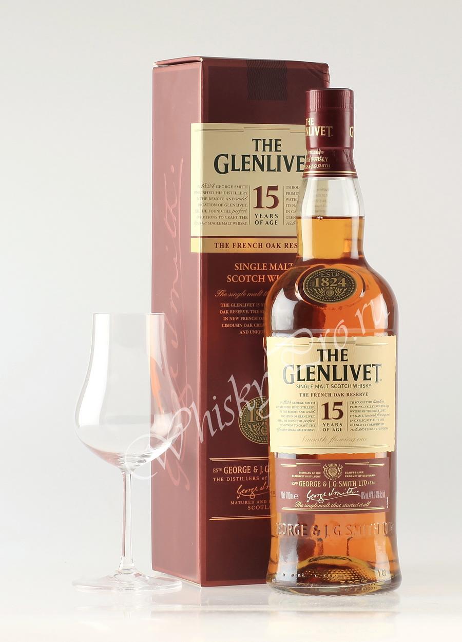 Шотландский виски Glenlivet 15 years old виски Гленливет 15 лет
